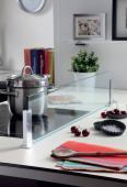 Kit Séparateur ilot sans perçage/ 90cm verre transparent