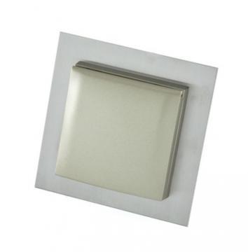 Prise simple carré inox