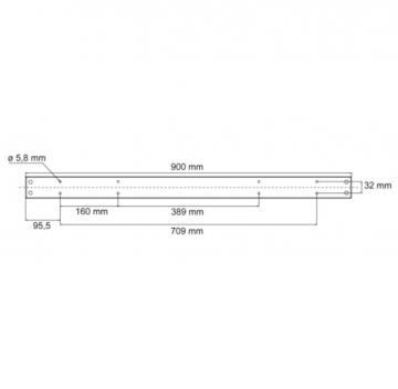 Pied Rectangulaire en acier hauteur 900mm