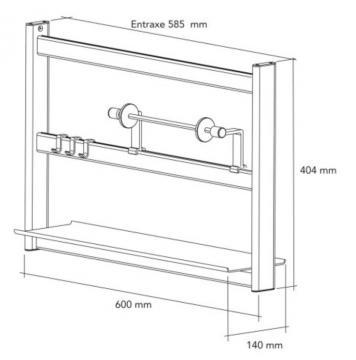 kit étagère de crédence 60cm  schéma