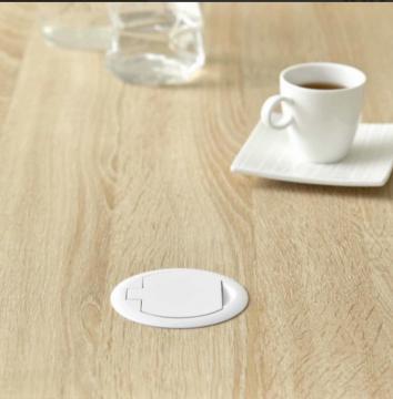 "Bloc 1 prise + USB ""RING"" blanc mat"