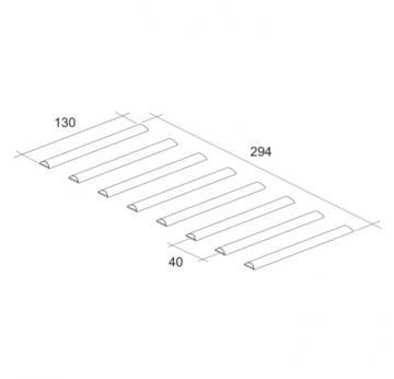 repose plat long inox d1525 schema