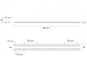 Raidisseur de plan de travail 800mm schéma