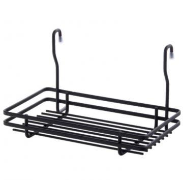 balconnet carré simple pour barre de credence carré noir