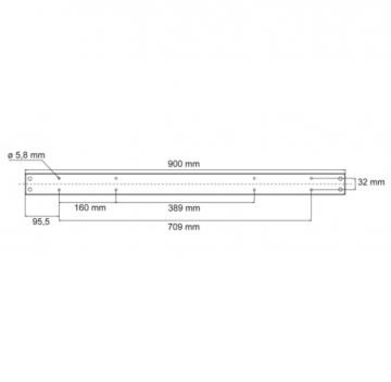 Pied Rectangulaire hauteur 920mm en acier