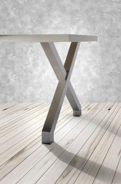 Pied de table hauteur 71cm en acier forme X