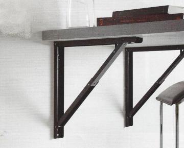 supports de table rabattable noir