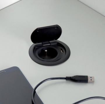 """Bloc 1 prise + USB """"RING"""""""