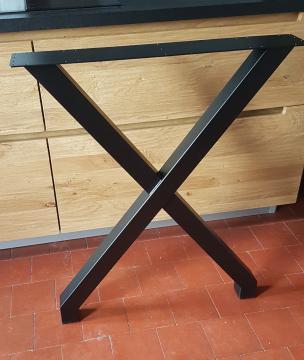 """Pied en Acier forme """"X"""" D120N"""