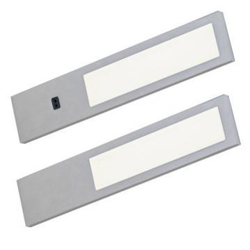 kit 2 profil led 3,8w extra plat aluminium