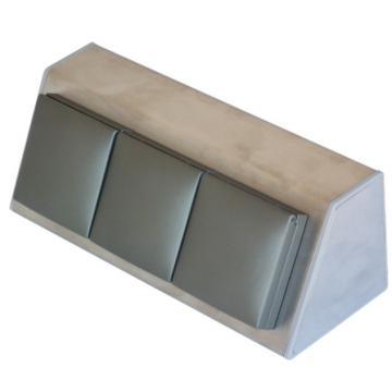 bloc 3 prises plan de travail en inox brossé A9455
