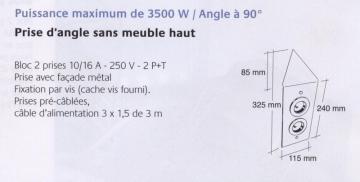 bloc 2 prises d'angle en métal MSA A9790 schéma