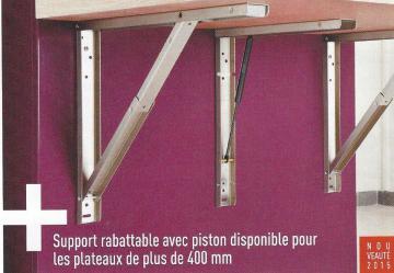Equerres support de table rabattable avec piston amortisseur for Equerre pour table rabattable