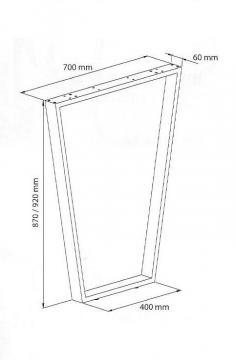 Pied trapèze dimensions