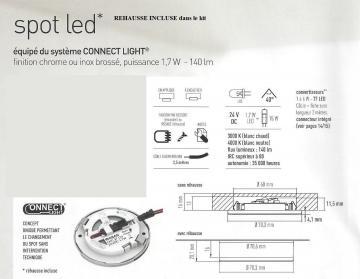 """Kit spots Led """"Connect light"""" en Applique ou encastré"""