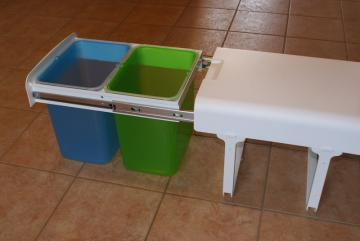 Poubelle tri selectif 2 bacs 16 litres MSA