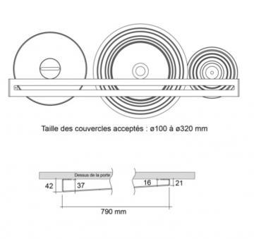 Barre Range Couvercle en acier