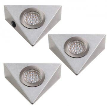 kit 3 spots led triangle 1,7W avec interrupteur