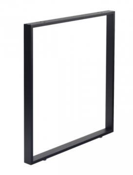 Pied Rectangulaire hauteur 920mm en acier ( 80cm noir mat )