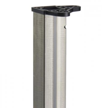 Pied de table carré 50mm  acier brut