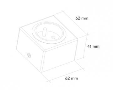 bloc 1 prise carré inox sous meubles haut ou dans le meuble
