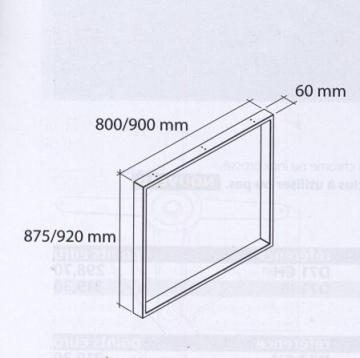 schéma pied rectangulaire