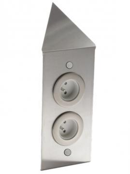 bloc 2 prises d'angle en métal MSA A9790