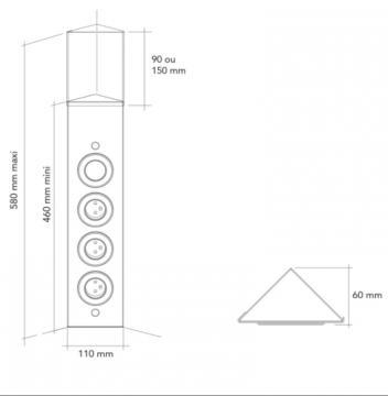 Bloc 3 prises d'angle avec inter MSA A9720 schéma