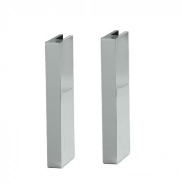 Kit de 2 supports carrés Protection ilot verre
