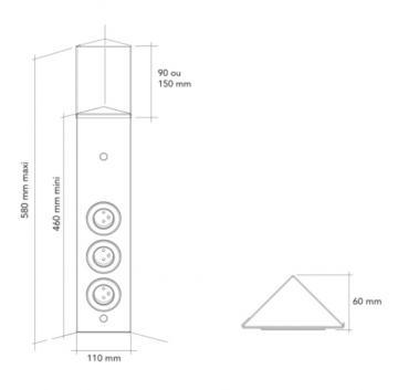 Bloc 3 prises inox MSA A9700 schéma
