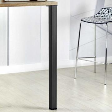 Pied de table carré 50mm noir mat