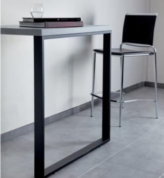 Pied Rectangulaire hauteur 875mm en acier