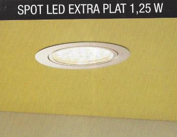 kit 2 ou 3 spots led extra plat 1,25W