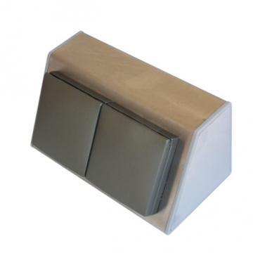bloc 2 prises plan de travail en inox brossé A9450 ( un bloc prise )