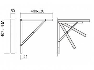 Schéma Support de Table Rabattable