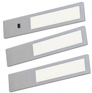 kit 3 profil led 3,8w extra plat aluminium