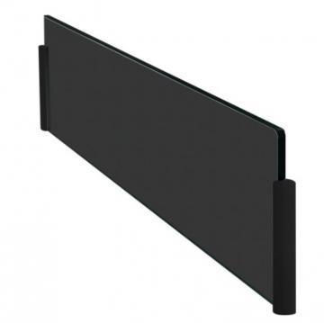 protection ilot en verre noir 90cm