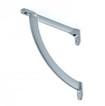 support tablette 120mm gris alu