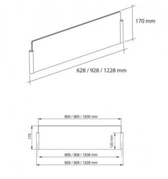 Protection ilot, kit anti projection ilot-verre ( 600 mm  )