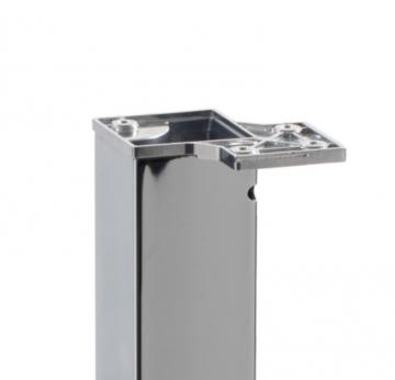 Platine pour montage affleurant de pied carré 80mm