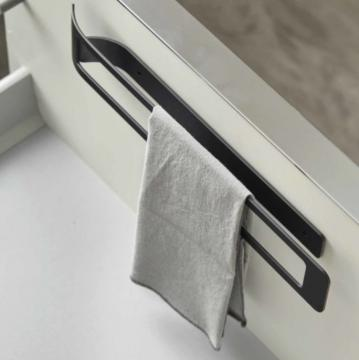 Porte Torchons Fixe en acier/ Noir mat