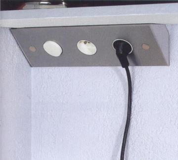 bloc 2 prises avec interrupteur sous meubles haut