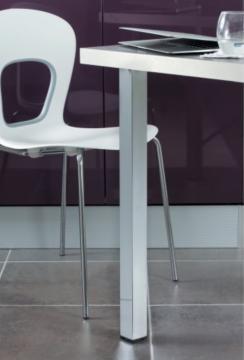 Pied de table carré 50mm chromé