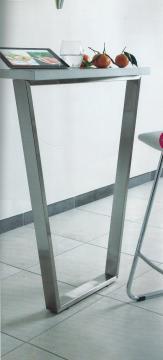 Pied trapèze hauteur 875 ou 920mm en acier