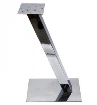 Pied de Snack carré incliné télescopique en acier chromé