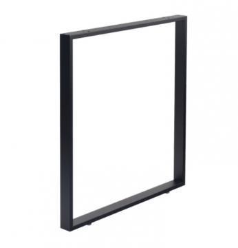 Pied Rectangulaire hauteur 715mm en acier noir mat