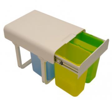 poubelle tri s lectif 3 bacs msa 9005. Black Bedroom Furniture Sets. Home Design Ideas