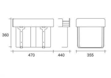 Poubelle tri sélectif 3 bacs (16-8-8 Litres)