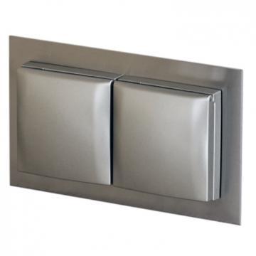 bloc prise double carrée à encastrer dans un panneau