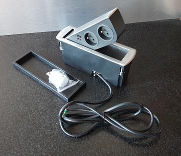 Bloc 2 prises + 2 USB CIZO affleurant MSA